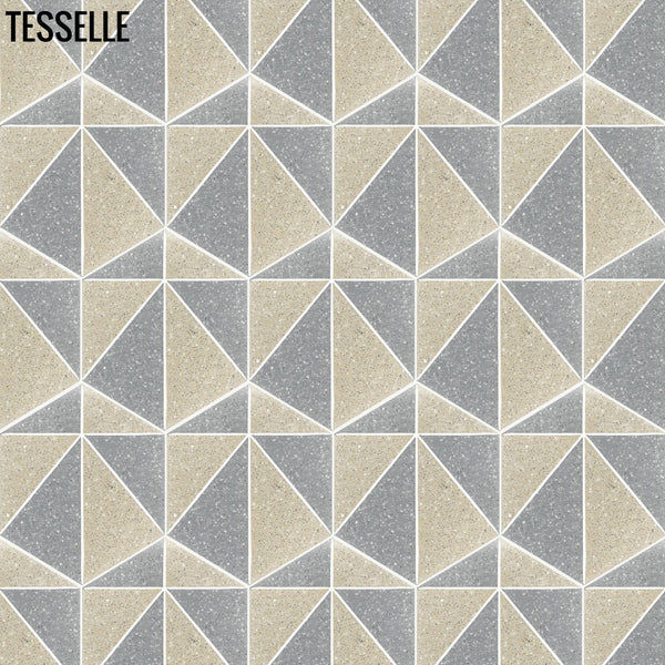 "Pinnacle Cliffside 9x8"" Hexagonal Cement Tile Layout E"
