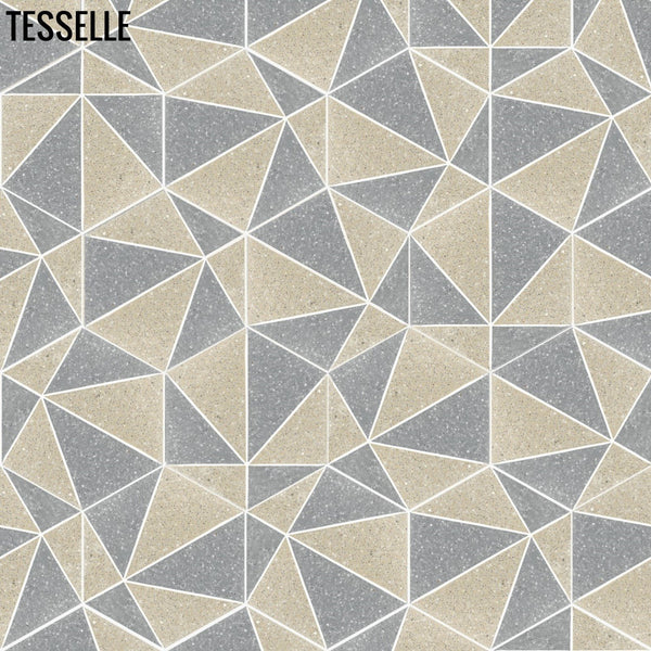 "Pinnacle Cliffside 9x8"" Hexagonal Terrazzo Cement Tile random"