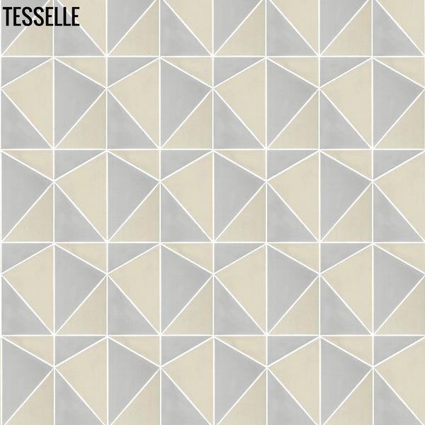 "Pinnacle Summit 9x8"" Hexagonal Cement Tile c"
