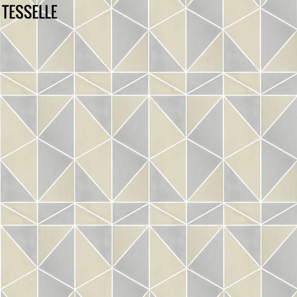 "Pinnacle Summit 9x8"" Hexagonal Cement Tile d"