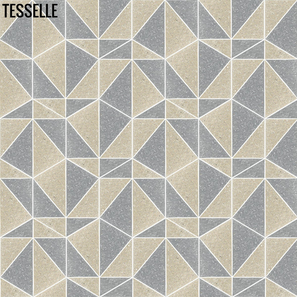 "Pinnacle Cliffside 9x8"" Hexagonal Terrazzo Cement Tile repeating"