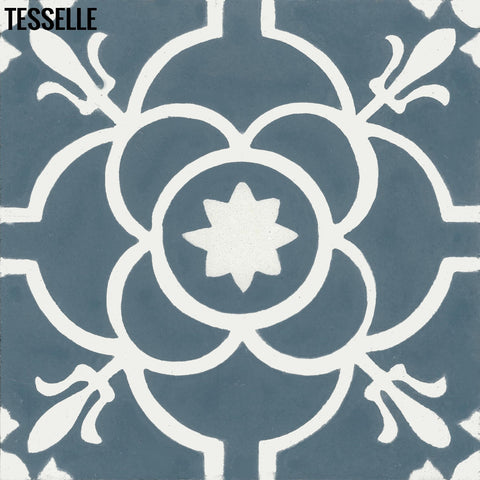 "Provence Calade 8"" Square Cement Tile"