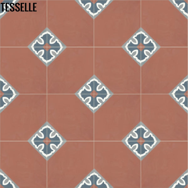 "Rosarito La Costa 8"" Square Cement Tile 1"