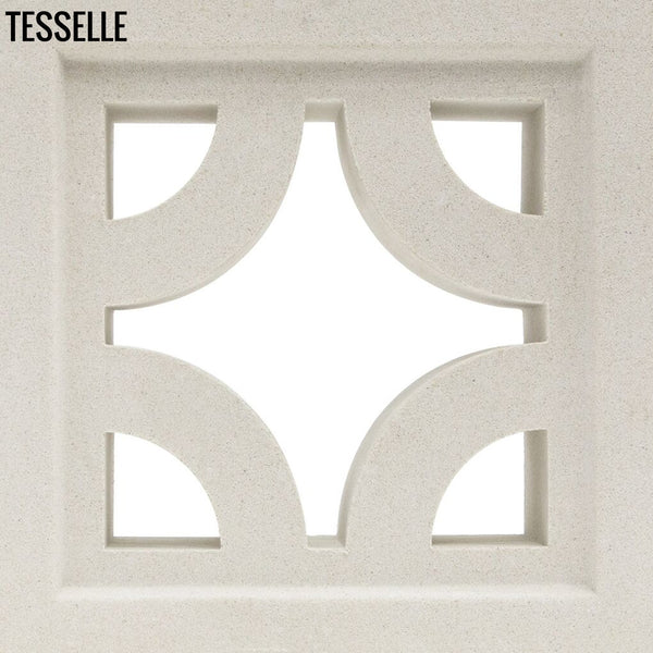 "Roundabout Lily White 7.5"" Cement Breeze Block"