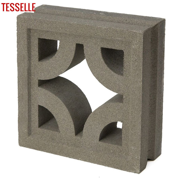 "Roundabout Natural Cement 7.5"" Breeze Block 