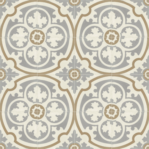 "Sancerre Mineral 8"" Square Cement Tile 4x4"
