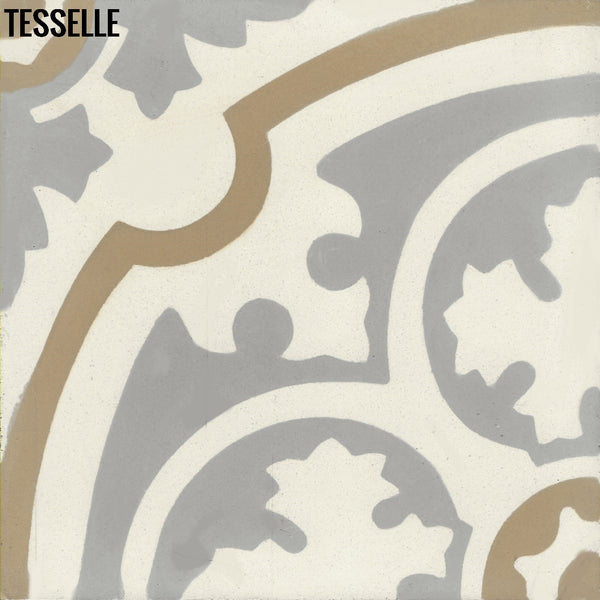 "Sancerre Mineral 8"" Square Cement Tile"