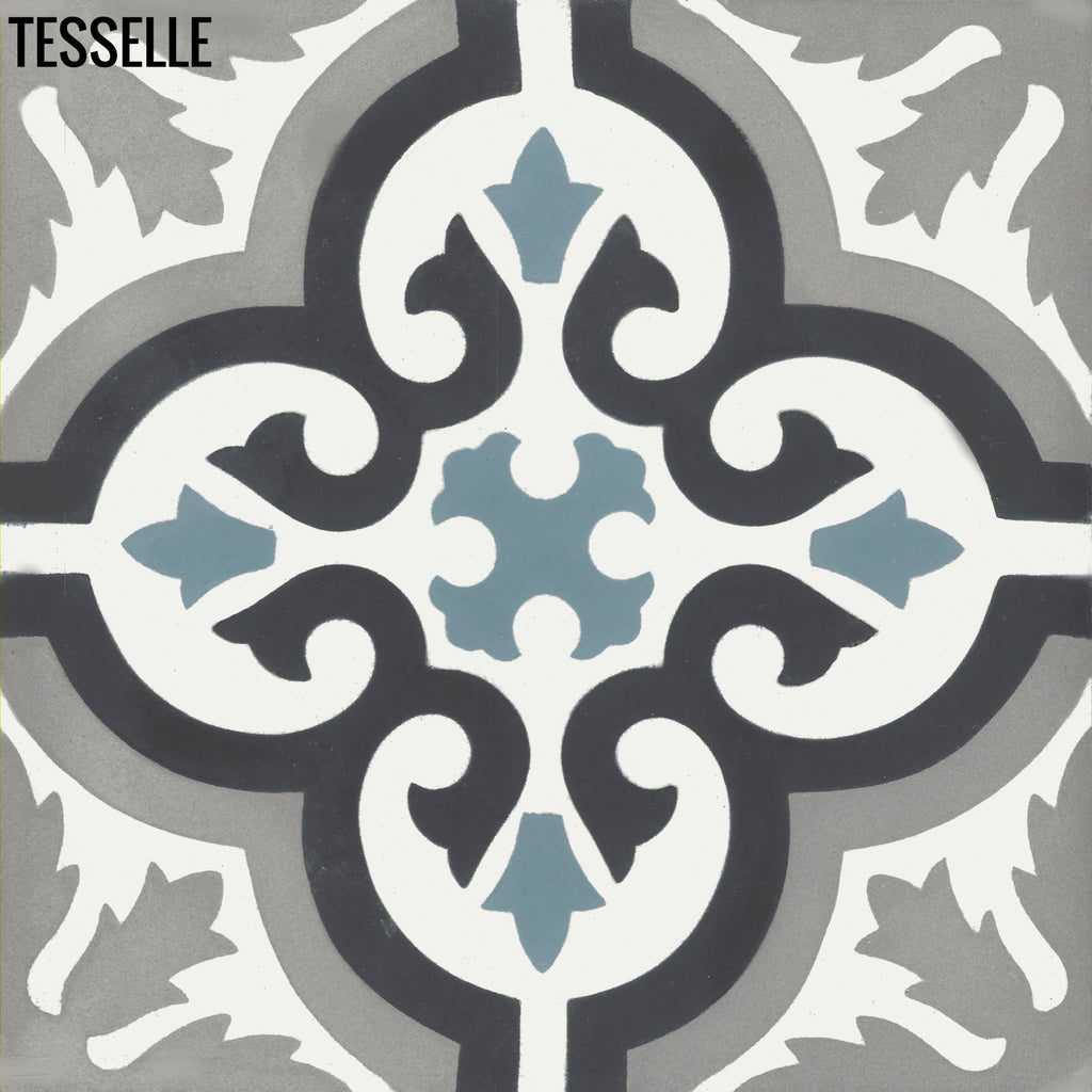 "Santiago Mari 8"" Square Cement Tile"