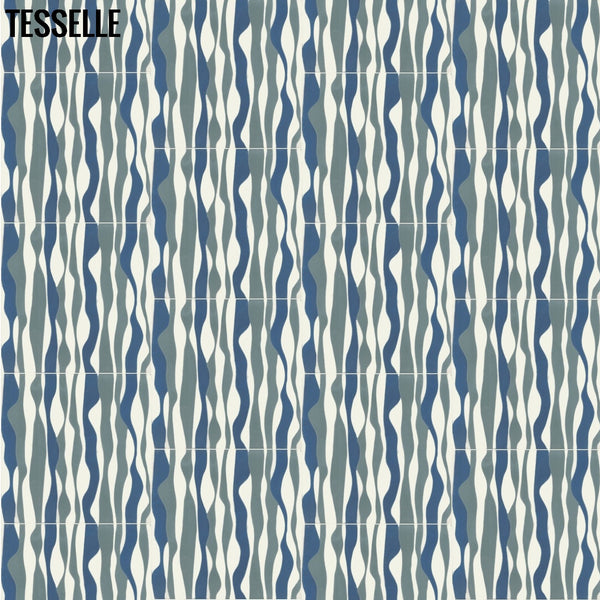 "Sessia Vara 8"" Square Cement Tile Half Drop"