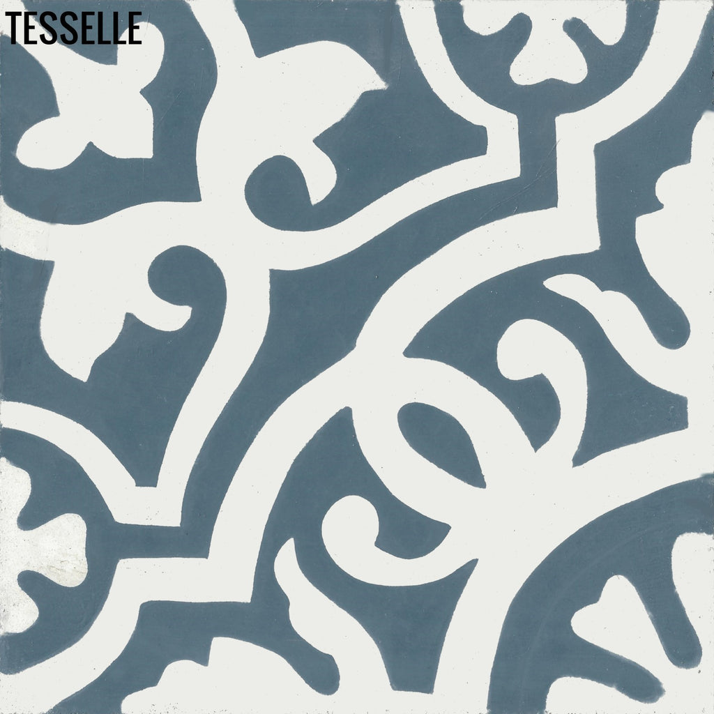 "Sevilla Tavora 8"" Square Cement Tile"