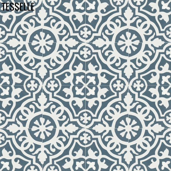 "Sevilla Tavora 8"" Square Cement Tile 1"