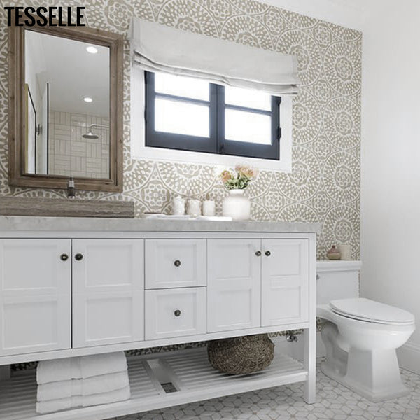 Bathroom remodel by Jonathan Scott for HGTV's Brother vs. Brother series, Grey