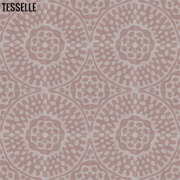 "Sonora Blush 8"" Square Cement Tile"