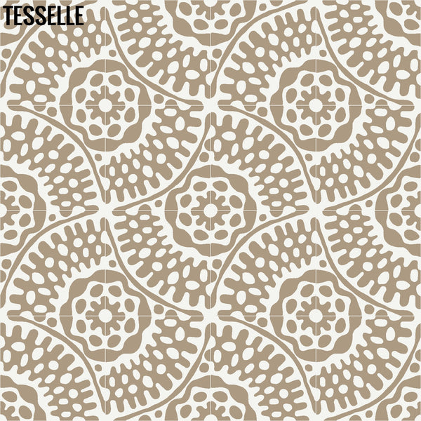 "Sonora Thistle 8"" Square Cement Tile 