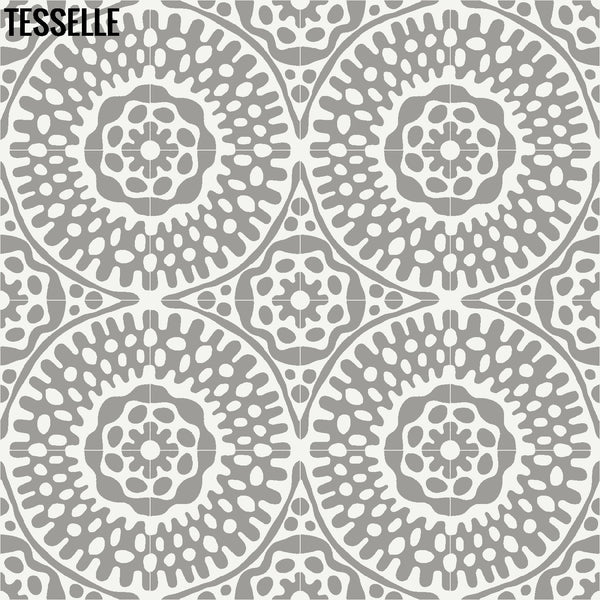 "Sonora Thistle 8"" Square Cement Tile Layout 1"