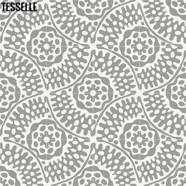 "Sonora Thistle 8"" Square Cement Tile Layout 5"