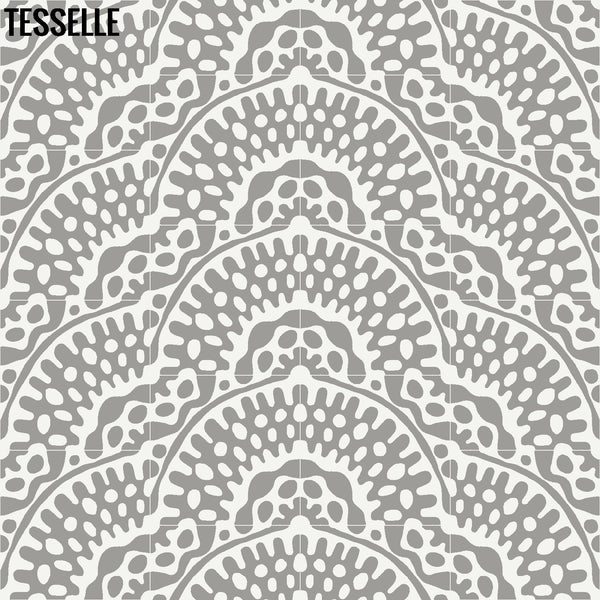 "Sonora Thistle 8"" Square Cement Tile Layout 6"