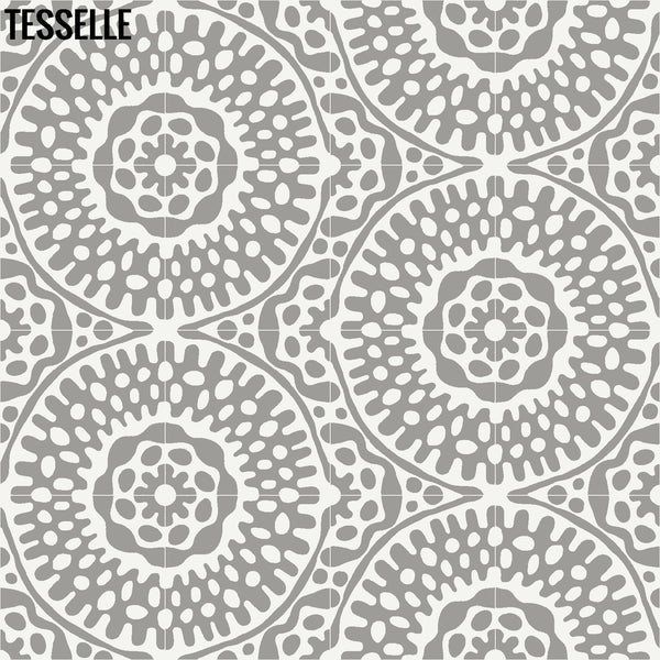 "Sonora Thistle 8"" Square Cement Tile Layout 2"