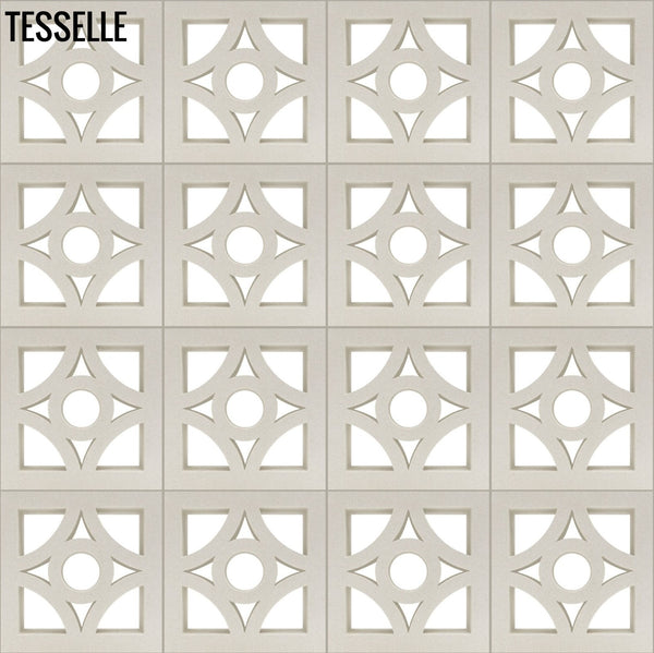 "Starlight Lily White 7.5"" Cement Breeze Block layout"