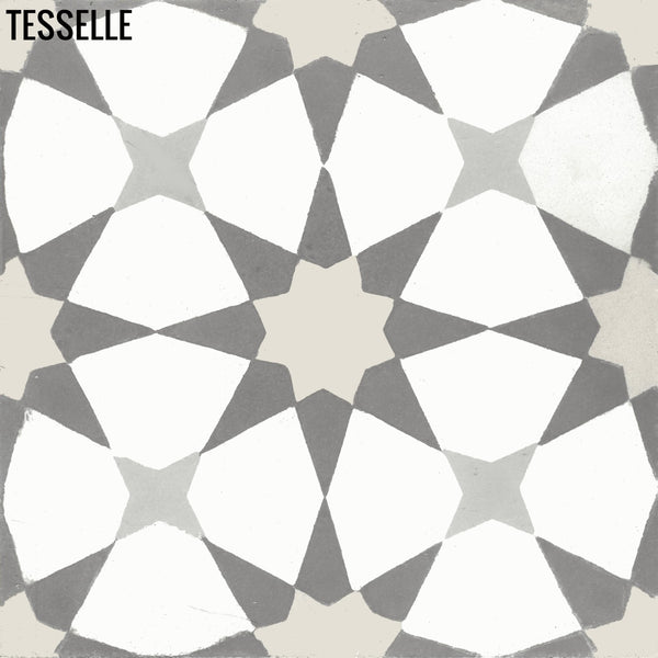 "Starre Aquila 8"" Square Cement Tile"