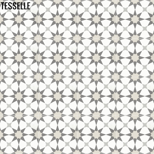 "Starre Aquila 8"" Square Cement Tile 1"