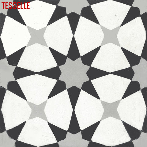 "Starre Prismatic 8"" Square Cement Tile"