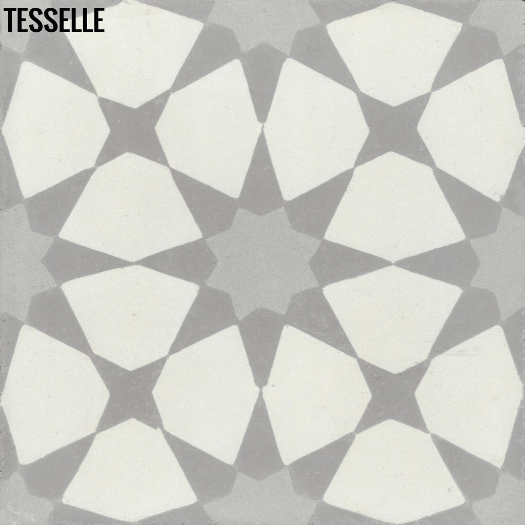"Starre Strata 8"" Square Cement Tile"