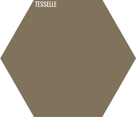 "Straw 6004 - 9""x8"" Hexagonal Cement Tile"