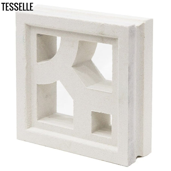 "Structure Lily White 7.5"" Cement Breeze Block"