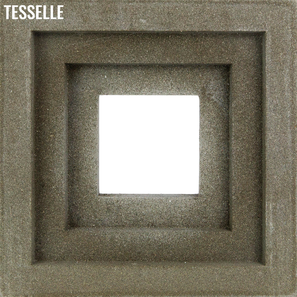 "Terrace Natural Cement 7.5"" Breeze Block 