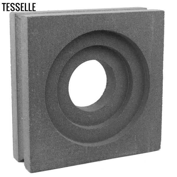 "Crater Natural Cement 7.5"" Breeze Block 