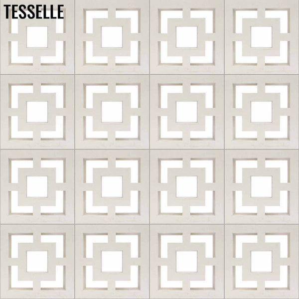 "Town Square Lily White 11.4"" Breeze Block 1"