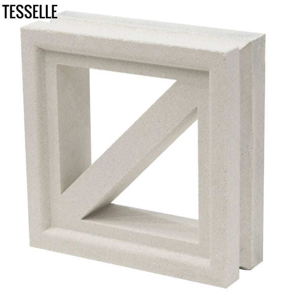 "Traverse Lily White 7.5"" Cement Breeze Block4"