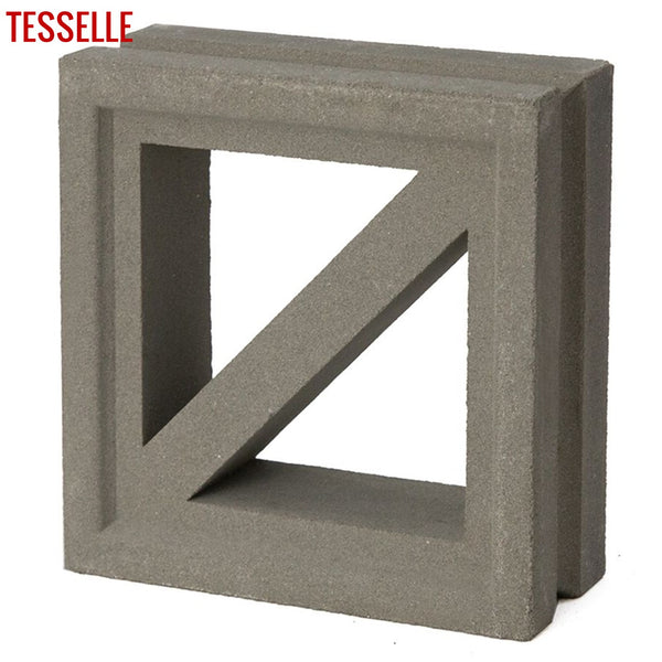 "Traverse Natural Cement 7.5"" Breeze Block 