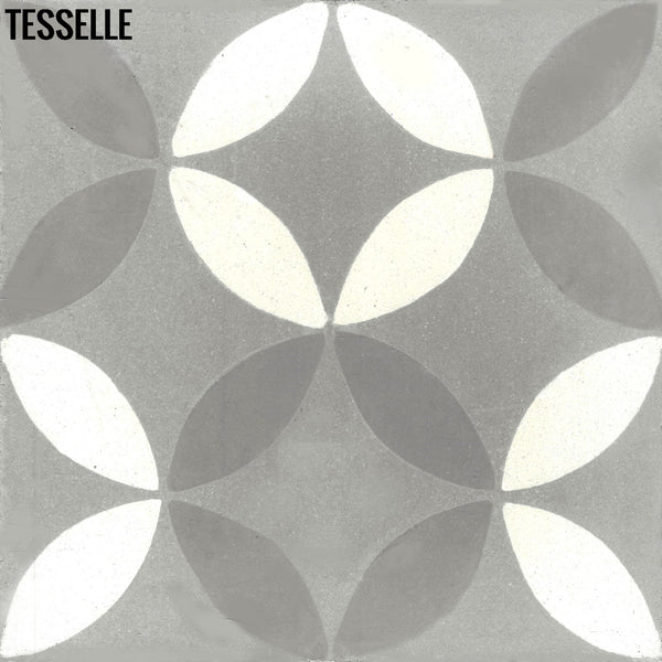 "Tropez Chemin 8"" Square Cement Tile"