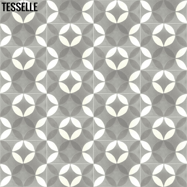 "Tropez Chemin 8"" Square Cement Tile 2"