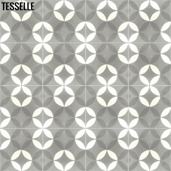 "Tropez Chemin 8"" Square Cement Tile 1"