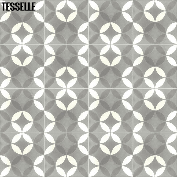 "Tropez Chemin 8"" Square Cement Tile 3"