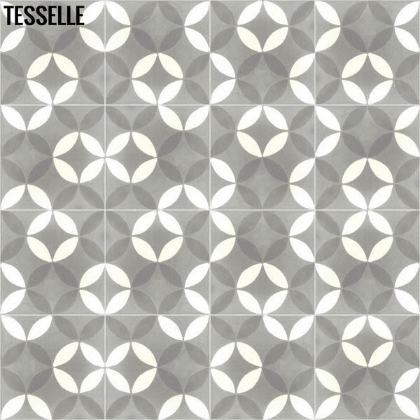 "Tropez Chemin 8"" Square Cement Tile 4"