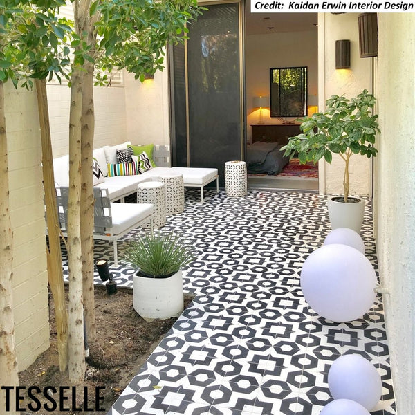 "Dekko Carrera 8"" Square Cement Tile"