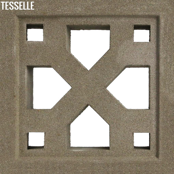 "Crossing Natural Cement 7.5"" Breeze Block 