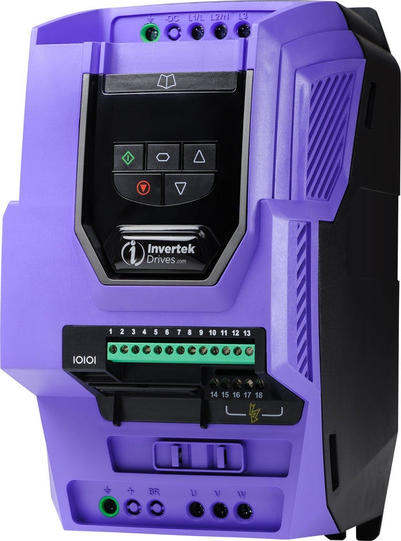 ECO IP20 18.5kW, 3Ph. Input, 3Ph. Output, 380-480V, EMC Filter, OLED Display