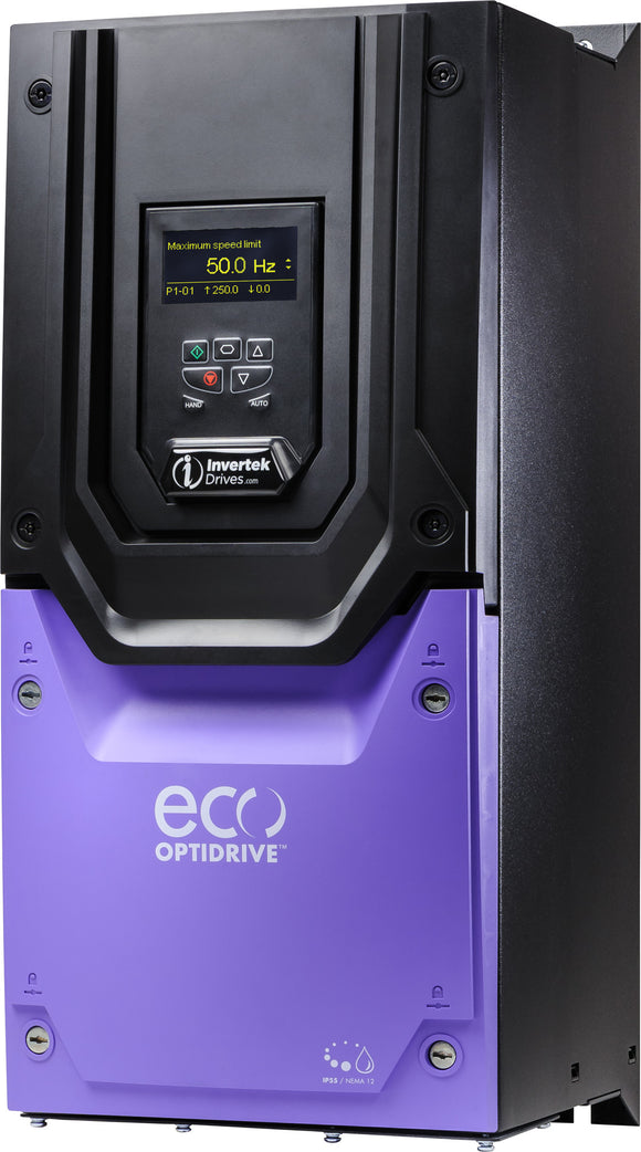 ECO IP55 18.5kW, 3Ph. Input, 3Ph. Output, 380-480V, EMC Filter, OLED Display