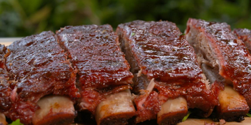 Smoked Barbecue Pork Ribs