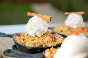 Apple Crisp with Vanilla Bean Ice Cream