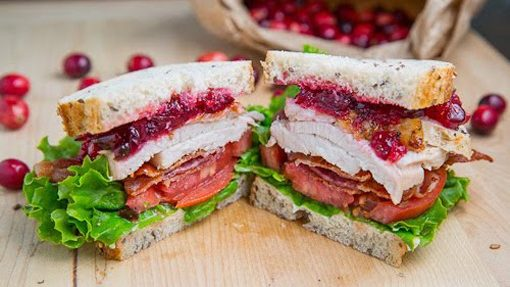 Turkey & Cranberry Club Sandwich
