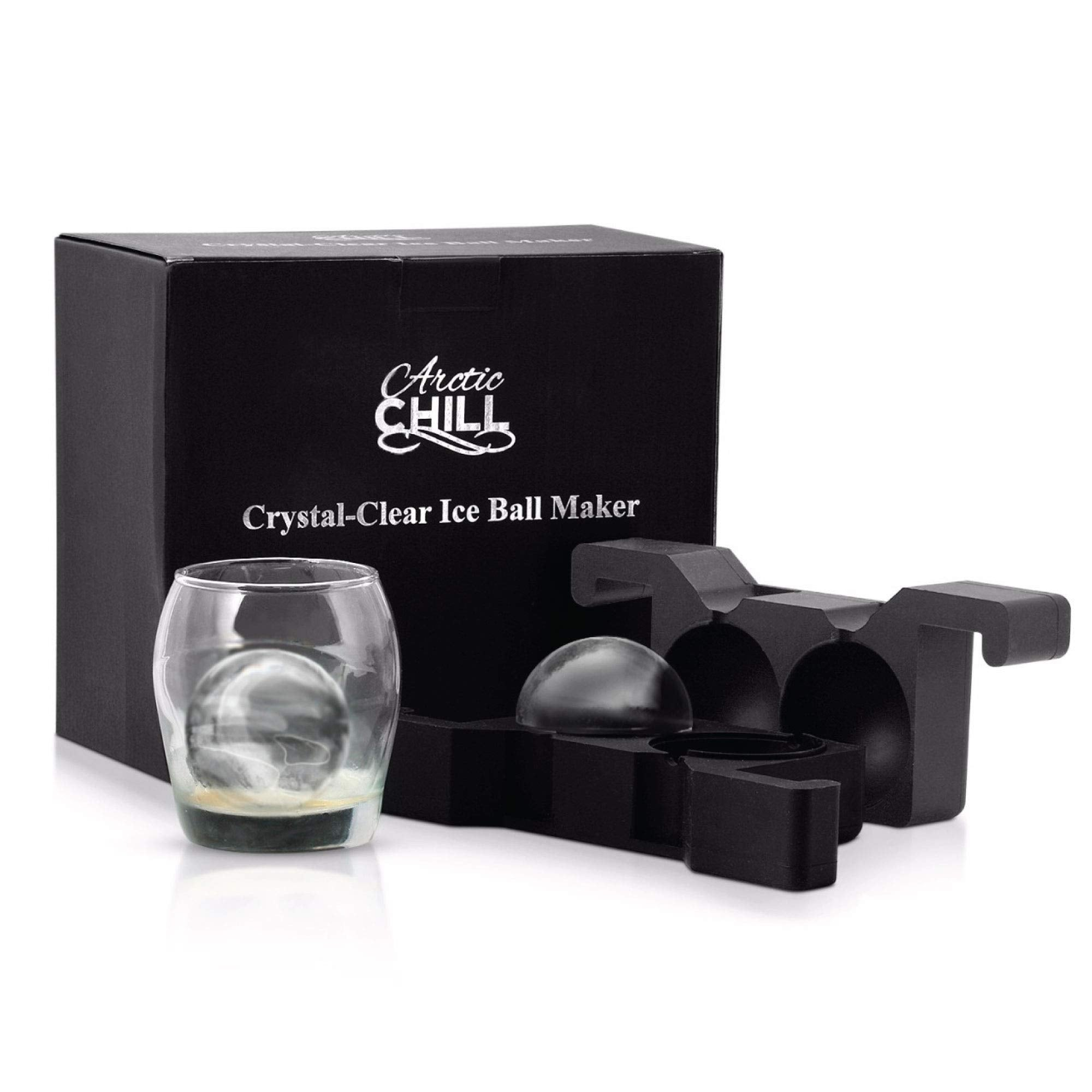 Ice Ball Mold >> 2 5 Crystal Clear Ice Ball Mold Hungry Fan Brand Llc