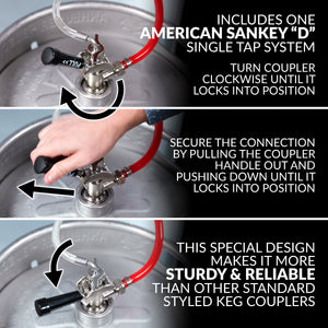 Full Size Kegorator Draft Beer Dispenser