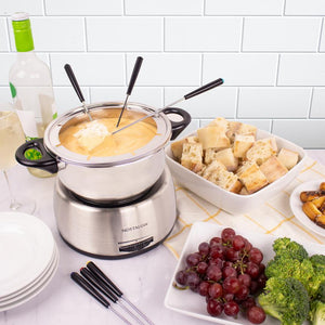 6-Cup Stainless Steel Electric Chocolate & Cheese Fondue Pot