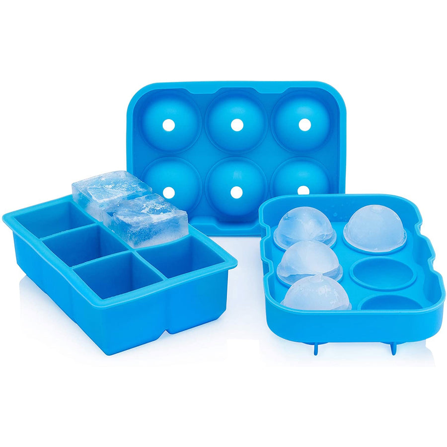 "COMBO PACK - 2"" Ice Ball Mold + 2"" Ice Tray"